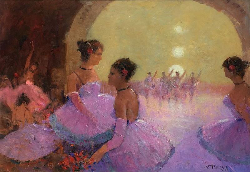 John Terelak, Ballet 2017, oil on canvas