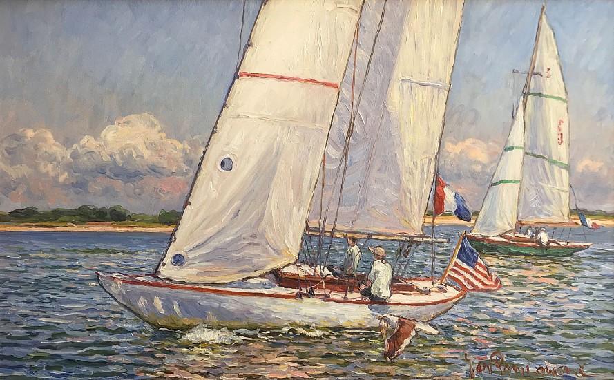 Jan Pawlowski, Happy Sailing (Nantucket) 2017, oil on canvas