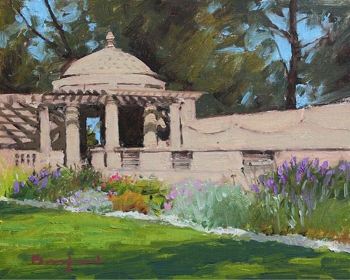 David Bareford, Garden Sanctuary 2016, oil on panel