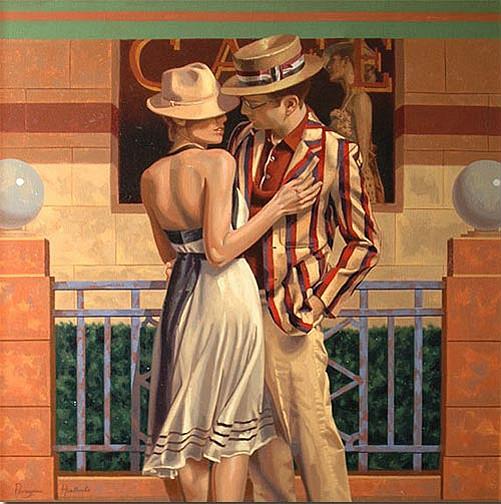 Peregrine Heathcote, Cafe Romance 2009, oil on canvas