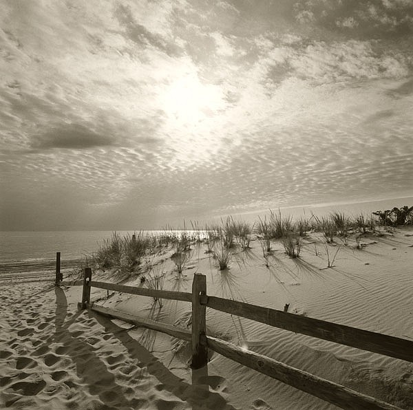 Michael Kahn ,   Down to the Beach      silver gelatin photograph ,  19 x 19 in. (48.3 x 48.3 cm)     MK0720116