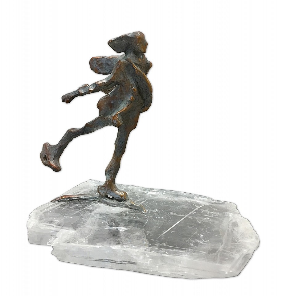 Jane DeDecker ,   Glide  ,  2017     bronze and Selenite crystal ,  6 1/4 x 6 1/2 x 4 in. (15.9 x 16.5 x 10.2 cm)     JD171206