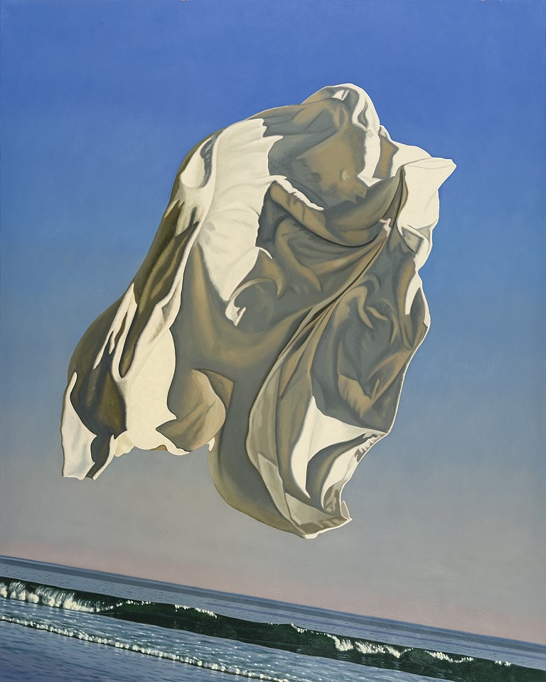 David Ligare ,   Zakinthos (Thrown Drapery)  ,  2015     oil on canvas ,  50 x 40 in. (127 x 101.6 cm)     M10122D.049