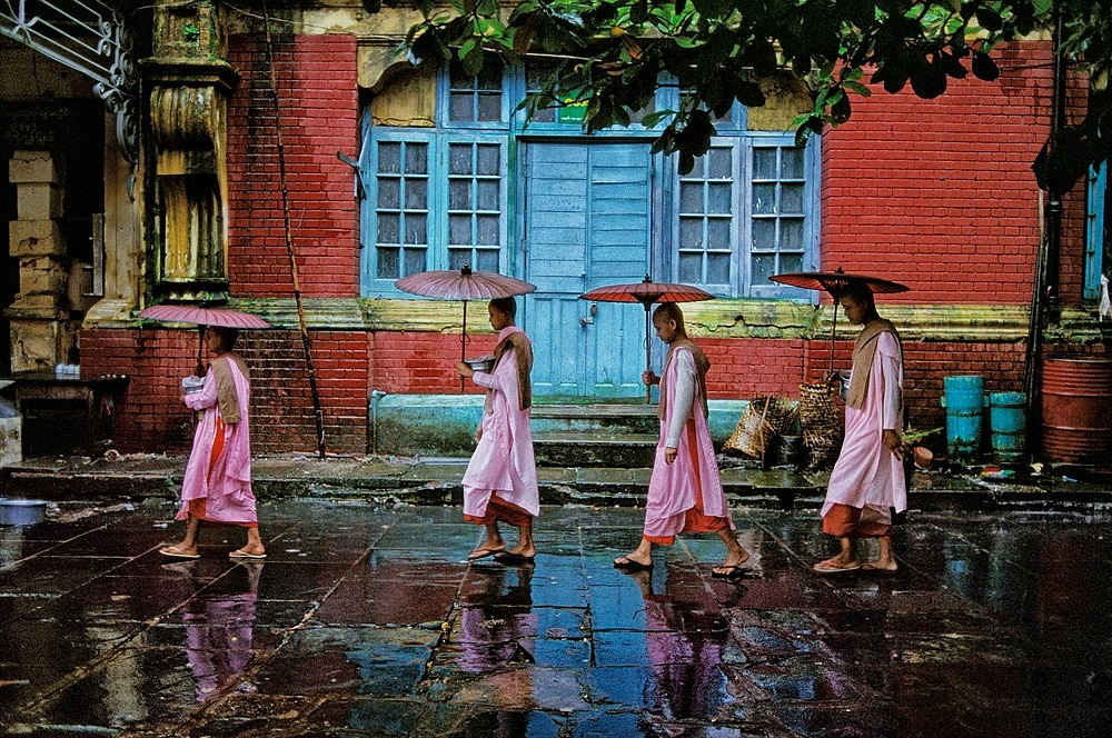Steve McCurry ,   Procession of Nuns, Rangoon,   ,  1994     FujiFlex Crystal Archive Print ,  30 x 40 in. (Inquire for additional sizes)     BURMA10006