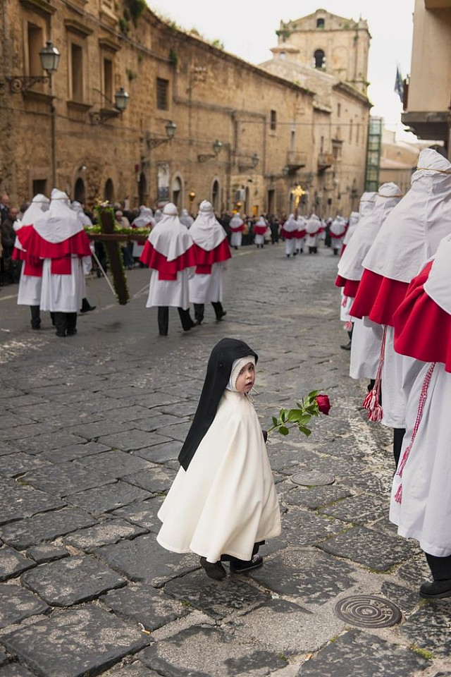 Steve McCurry ,   Easter Penitents Procession, Sicily, Italy  ,  2011     FujiFlex Crystal Archive Print ,  20 x 24 in.     ITALY-10132NF