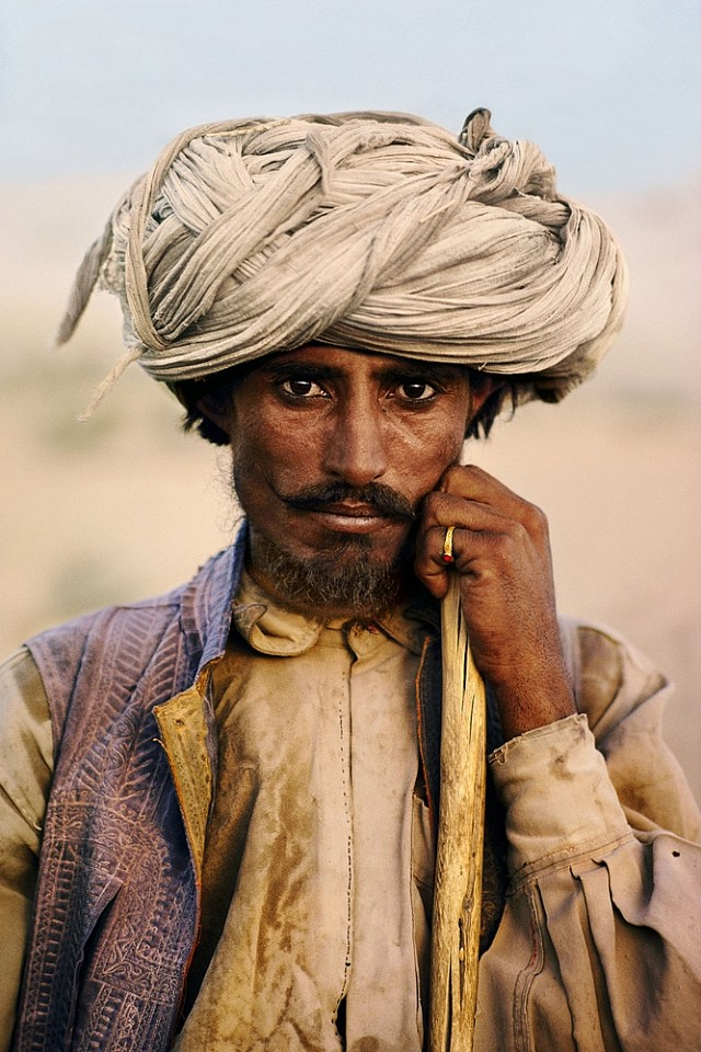 Steve McCurry ,   Baluchi Farmer  ,  1980     FujiFlex Crystal Archive Print ,  40 x 60 in. (Inquire for additional sizes)     PAKISTAN10002