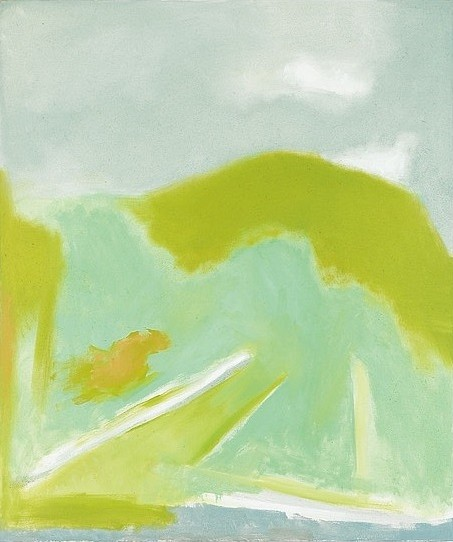 Esteban Vicente ,   Spring I  ,  1996     oil on canvas ,  50 x 42 in. (127 x 106.7 cm)     MMG6579