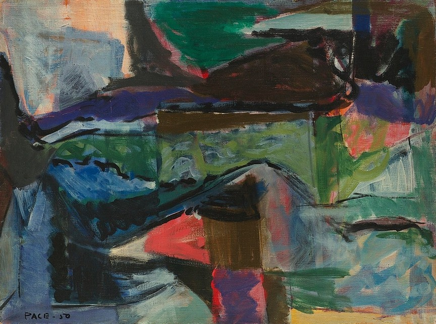 Stephen Pace ,   Untitled (50-6)  ,  1950     oil on canvas ,  24 x 32 in. (61 x 81.3 cm)     PAC-00036