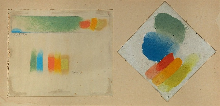 Friedel Dzubas ,   Untitled  ,  1970     Acrylic on canvas and acrylic on paper ,  18 x 36 in. (45.7 x 91.4 cm)     DZU-00002