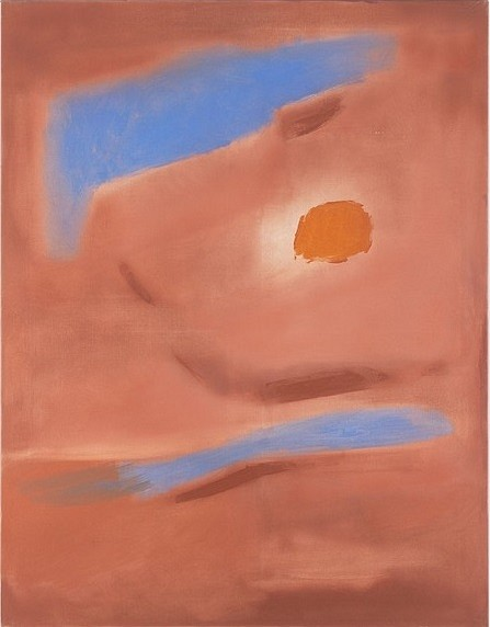 Esteban Vicente, Untitled 1987, oil on canvas