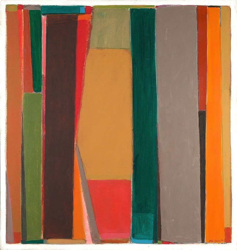 John Opper ,   Broken Plains (#6)  ,  1968     acrylic on canvas ,  48 x 44 in. (121.9 x 111.8 cm)     OPP-00005