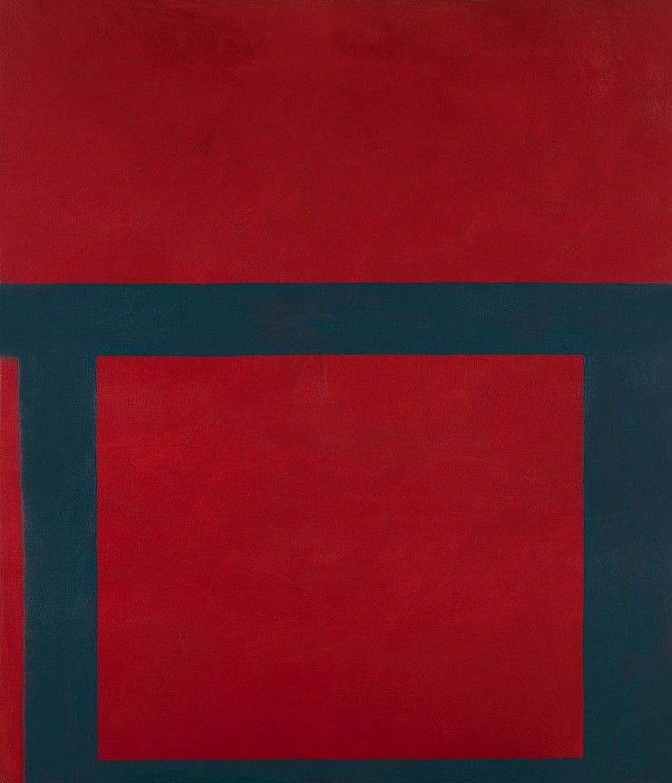Perle Fine, Cool Series #18, Deceptive Beat ca. 1961-1963, oil on canvas