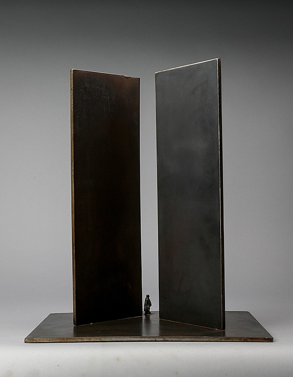 Jim Rennert ,   Downtown, Edition of 7  ,  2006     bronze and steel ,  18 x 15 1/4 x 10 in. (45.7 x 38.7 x 25.4 cm)     JR010906
