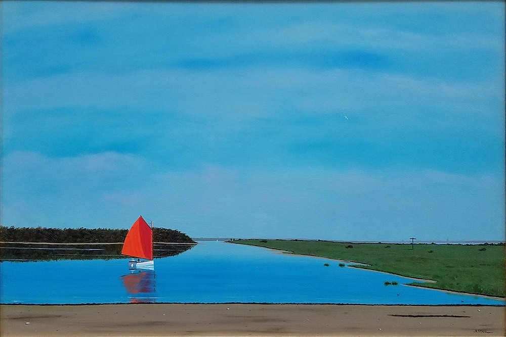 Robert Stark ,   Coskata Sail      oil on canvas ,  24 x 36 in. (61 x 91.4 cm)     RS180901