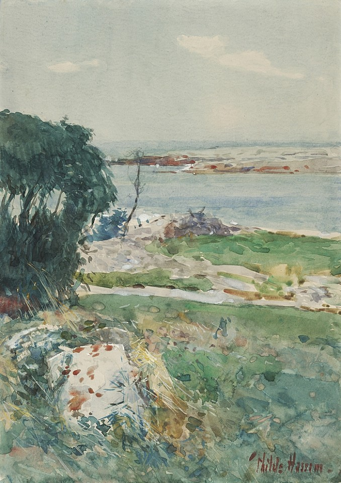 Childe Hassam, Summer Afternoon, Appledore c. 1890, watercolor on paper