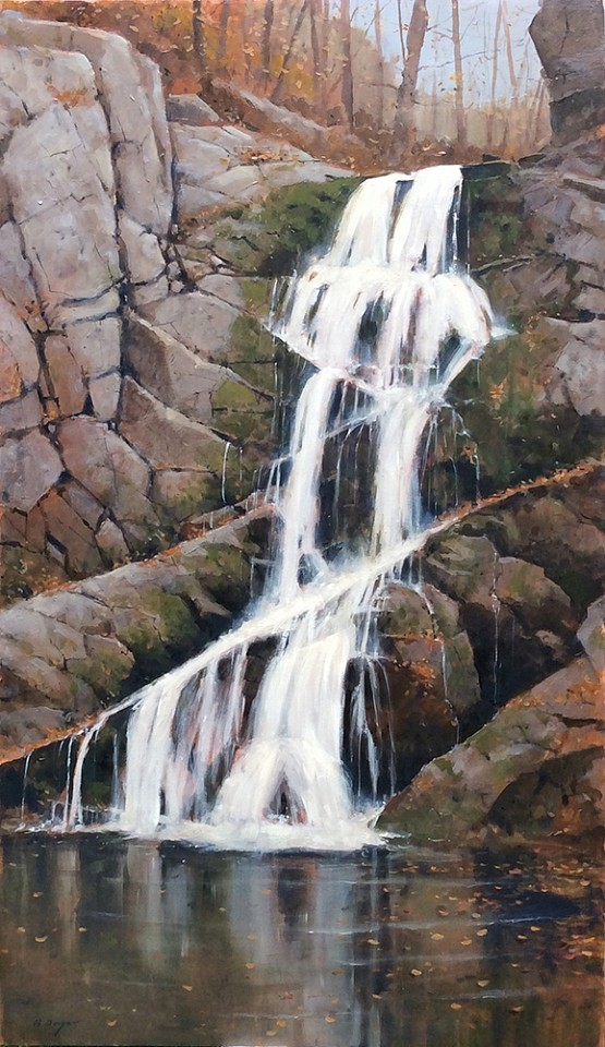 Nicholas Berger ,   Indian Brook Falls  ,  2018     oil on panel ,  42 x 24 in. (106.7 x 61 cm)     NB181103