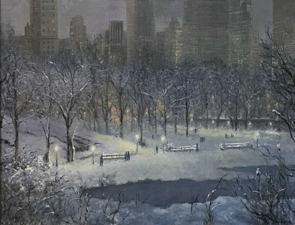 Marla Korr, Central Park 2018, oil on linen