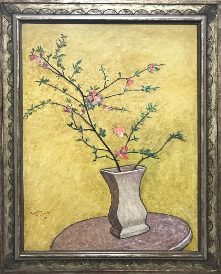 Gershon Benjamin ,   Flowering Quince  ,  1980     oil on canvas ,  33 x 25 in. (83.8 x 63.5 cm)     GB1803010