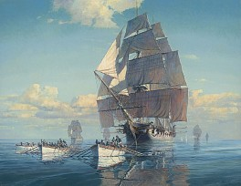 Maarten Platje News & Events: Maarten Platje: The Early History of the U.S. Navy, Now Open at the Channel Islands Maritime Museum [Oxnard, CA], January  9, 2019 - Cavalier Galleries