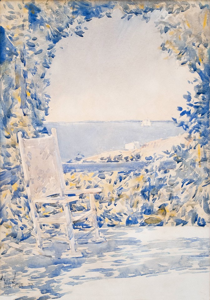 Childe Hassam ,   A Shady Spot  ,  1892     watercolor on paper ,  20 x 14 in. (50.8 x 35.6 cm)     CH190401