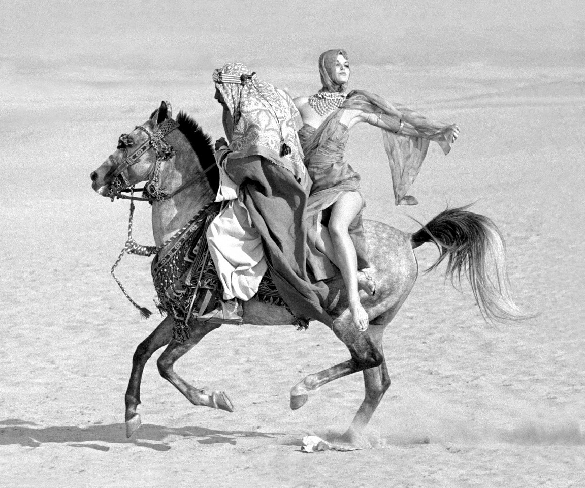 Norman Parkinson ,   Queen of the Desert, Queen Magazine, Ed. 3/21      archival pigment print ,  20 x 24 in. (50.8 x 61 cm)     NP_FA_60s054