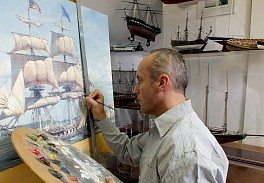 Maarten Platje Press: Historic Single-Ship Victories Captured by Renowned Maritime Artist Maarten Platje, September  3, 2019 - Twin Lights Historical Society