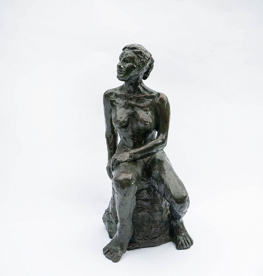 Steven Simmons ,   Seated Lady      bronze ,  12 1/2 x 4 1/2 x 6 1/2 in. (31.8 x 11.4 x 16.5 cm)     SS200219