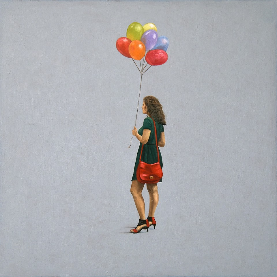 Scott Duce ,   Balloons      oil on panel ,  12 x 12 in. (30.5 x 30.5 cm)     SD1805001