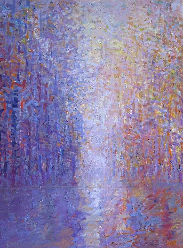 Ira Barkoff ,   Forest Series - Light Enters      oil on canvas ,  48 x 36 in. (121.9 x 91.4 cm)     IB200403