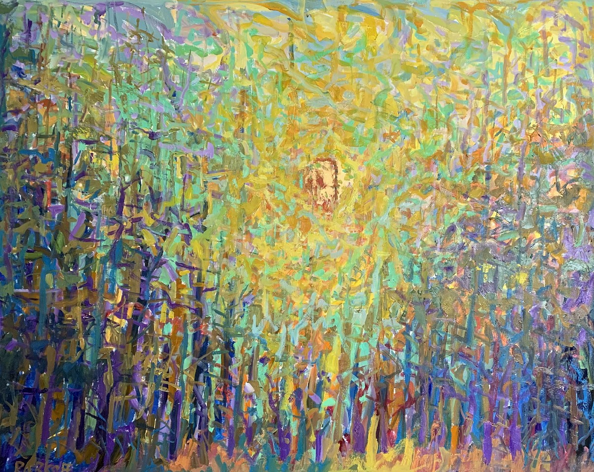 Ira Barkoff ,   Forest Series - Warm Sun      oil on canvas ,  48 x 60 in. (121.9 x 152.4 cm)     IB200405