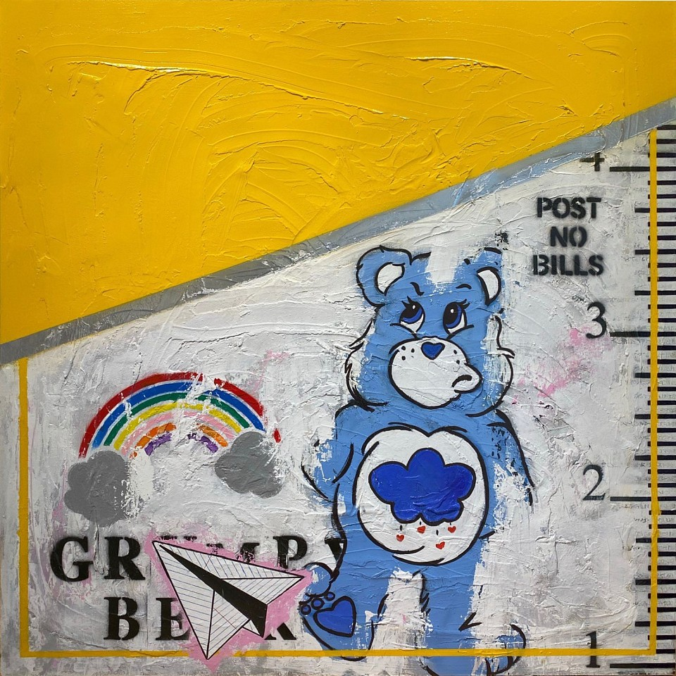Guy Stanley Philoche ,   Care Bear  ,  2020     mixed media on board ,  48 x 48 in. (121.9 x 121.9 cm)     GSP200501