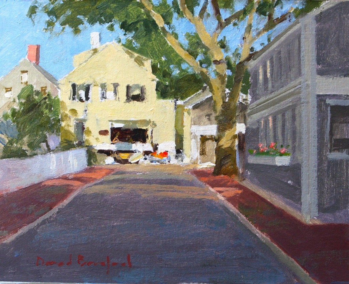David Bareford ,   Chestnut Street, Nantucket  ,  2020     oil on panel ,  8 x 10 in. (20.3 x 25.4 cm)     DB200601
