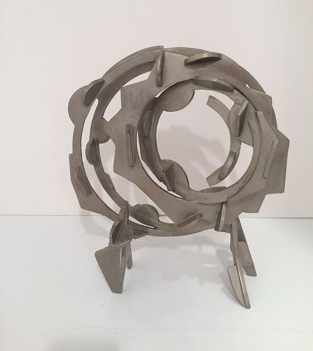 Joel Perlman ,   Circle Spirit  ,  2015     Cast bronze ,  12 x 10 1/2 in. (30.5 x 26.7 cm)     9909