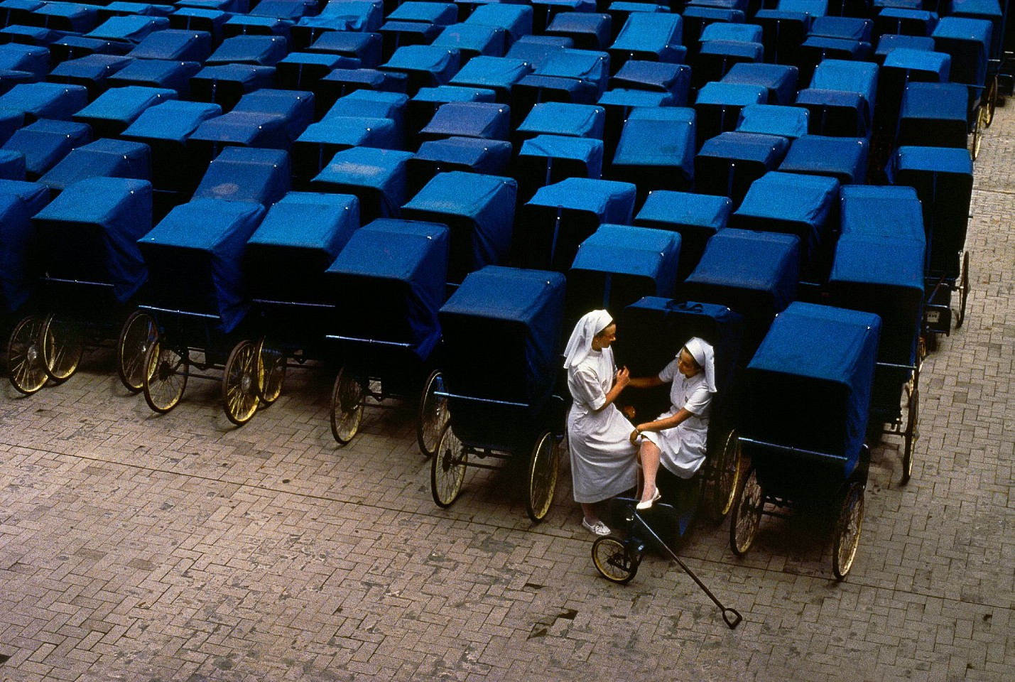 Steve McCurry ,   Two Nurses in Lourdes      FujiFlex Crystal Archive Print     Price/Size on request