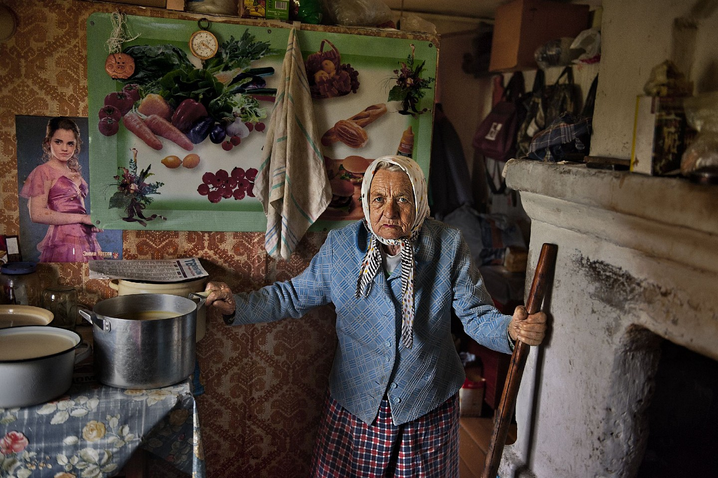 Steve McCurry ,   Elderly Woman Cooks      FujiFlex Crystal Archive Print     Price/Size on request