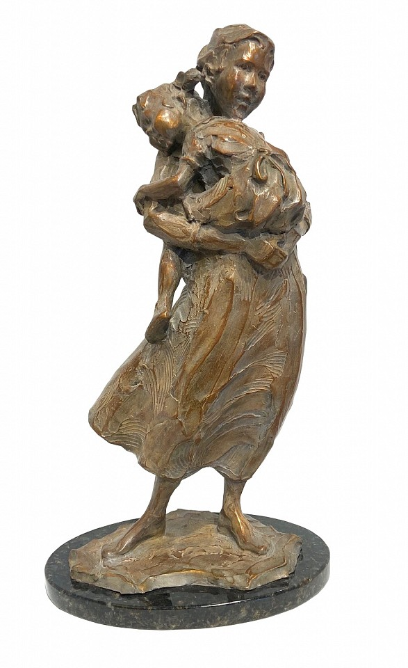 Jane DeDecker ,   Never Too Big, Ed. 10/31  ,  1995     bronze ,  19 x 10 x 7 in. (48.3 x 25.4 x 17.8 cm)     JD190701